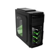 RaidMax Caja Gaming VORTEX V4 404WB ATX Mid Tower Gaming (Verde)