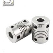 Invento 2pcs 5 x 10mm Aluminium Flexible Coupling for Nema 17 Z Axis 3D Printer CNC DIY