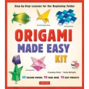 Origami Made Easy Kit: Step-By-Step Lessons for the Beginning Folder [Origami Book, 60 Origami Papers, 14 Projects, & Video Tutorial]