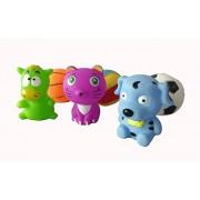 Kbs Brand High Quality Non-Toxic Soft Chu chu animal Bath toys Set of Animals and Squeeze Balls Bath Toy ((Ball Chu Chu Toys))