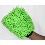DK Microfiber Super Soft Hand Glove Duster Washing Mitt Both Side Gloves (Color may vary)