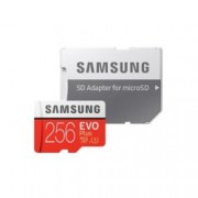 256GB microSD Card Samsung EVO+ with Adapter(MB-MC256GA/EU), Class10, скорост на четене 100MB/s, скорост на запис 90MB/s