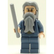 LEGO Harry Potter Minifig Dumbledore Sand Blue Outfit with Silver Embroidery