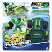 Avengers, Micro-figurina cu vehicul Super Hero Mashers - Hulk