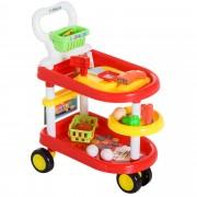 Homcom Wózek Dziecięcy Zabawka Kolor Czerwony