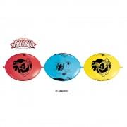 Banner Party din baloane latex Spiderman- 3m, Qualatex 15020