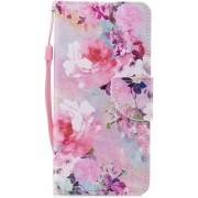 Shop4 - Xiaomi Mi A2 Hoesje - Wallet Case Bloemen Roze