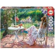 Among Wisterias, Vicente Romero Educa 1000 Piece Puzzle