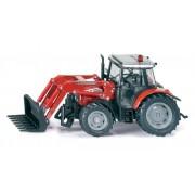 SIKU Farmer - Massey Ferguson tractor cu încărcător frontal, scară 1:32