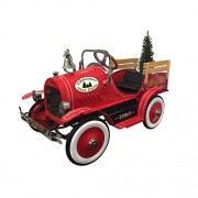 Dexton Kid's Christmas Tree Ride On Delivery Truck, Red