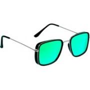 TheWhoop Rectangular, Retro Square Sunglasses(Green)
