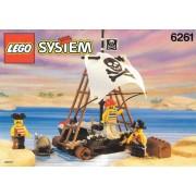 Set 6261-G - Pirates: Raft Raiders H/97-100%- gebruikt