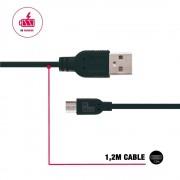 Be Hello BeHello Telefoon Laad en Sync Kabel - Micro USB (1.2m) Zwart