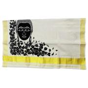 Buddha Tissue Kasavu Saree