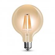 V-TAC Lampadina LED E27 6W Globo G95 Filamento Ambrata Vintage Dimmerabile