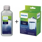 Philips Zestaw Odkamieniacz 250 ml + Filtr AquaClean