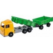 Camion cu dubla remorca plastic Androni pentru copii 50 cm