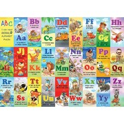 White Mountain Puzzles Animal Alphabet Jigsaw Puzzle (24 Piece)