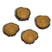 [Wholesale Fairy Garden] Wholesale Fairy Gardens Miniature Fairy Garden Stepping Stones Tree Stump Set of 4 LYSB00B0RGI94-TOYS [parallel import goods]