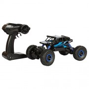 Planet of Toys Dirt Drift 1:18 Rock Crawler 2.4 Ghz Remote Control Car 4 Wheel Drive Off Road RC Monster Truck for Kids/Children, Blue