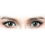 Diamond Eye Green Colour Yearly(Zero Power) Contact Lens