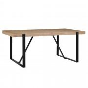[en.casa]® Mesa de comedor para 6 personas [180x100cm] roble claro mesa de cocina