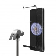 Unotec Full Cover Protector Vidro Temperado 5D Preto para Samsung Galaxy S9