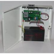 Makrai kapcsoló üzemű szünetmentesíthető tápegység, 9,5A/12V-13,8V, intelligens, akkumulátorhely (12V/7Ah)