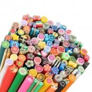 TRIBALSENSATION 100 pcs 3D DIY Nail Art Fimo Canes/Rods Sticker Tips - Decoration, col