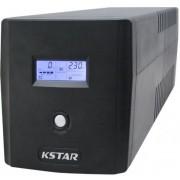 UPS KSTAR Micropower Micro 1000 LED, 1000VA/600W, 4 x Schuko, Management