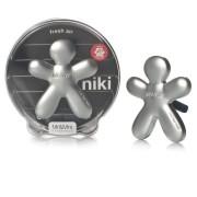 Mr & Mrs Fragrance Niki - matná stříbrná - Fresh Air Vůně do auta 1 kus