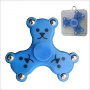 Teddy Face LED Fidget Spinner with Bluetooth Speaker and Memory card Slot