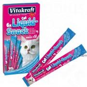 Vitakraft Cat Liquid Snack сьомга + омега 3 - 6 x 15 г