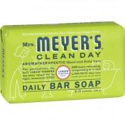 Mrs. Meyer's Bar Soap - Lemon Verbena - 5.3 oz - Case of 12
