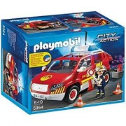 PLAYMOBIL Fire Chief's Car with Lights & Sound Set