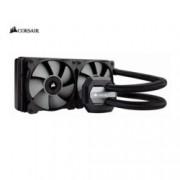 Водно охлаждане за процесор Corsair Hydro Series H100i PRO, съвместимо с Intel (1150/1151/1155/1156/1366/2011(-3)2066) и AMD (AM2/AM3/AM4/FM1/FM2), RGB подсветка