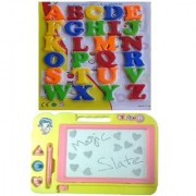 combo of Magnetic Learning Alphabet Capital Letters (big)with Magic Slate