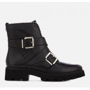 Steve Madden Women's Hoofy Leather Biker Boots - Black - UK 3 - Black