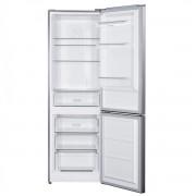 Combina frigorifica Albatros CNFX39A+, Full No Frost, 286 L, Sertar legume, Iluminare LED, Uși reversibile, H 185.8 cm, Clasă energetică A+, Inox/argintiu