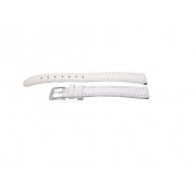 SZ1249 Alfa fehér bőr óraszíj 12-es