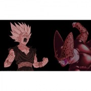 teen gohan and cell sticker poster|dragon ball z poster|anime poster|size:12x18 inch|multicolor