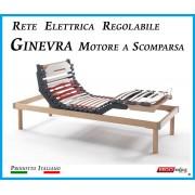 ErgoRelax Rete Elettrica Regolabile Ginevra con Motore a Scomparsa a Doghe di Legno da Cm. 90x190/195/200 Prodotto Italiano