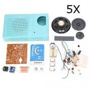 HITSAN 5Pcs AM Radio DIY Electronic Kit Learning Suite One Piece
