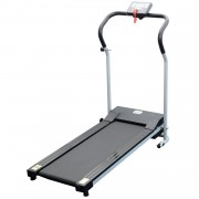 HOMCOM Electric Treadmill, 500W, 27kg-Black/Grey