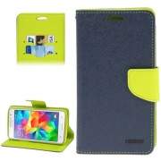 Cross Texture Horizontal Flip Leather Case with Credit Card Slots & Holder for Samsung Galaxy Grand Prime / G530H / G5308(Dark Blue)
