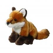 Geen Zittende vos knuffeldier 17 cm