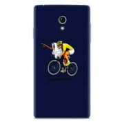 Husa silicon pentru Allview E3 Living ET Riding Bike Funny Illustration