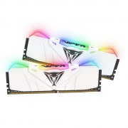 DDR4, KIT 16GB, 2x8GB, 3200MHz, Patriot Viper RGB, White (PVR416G320C6KW)