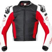 Held Safer Motorcykel läder jacka Svart Röd 50