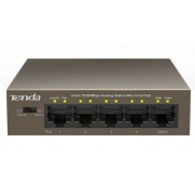 x-Tenda TEF1105P ** LAN 5-Port 10/100 POE Switch RJ45 ports (2653)